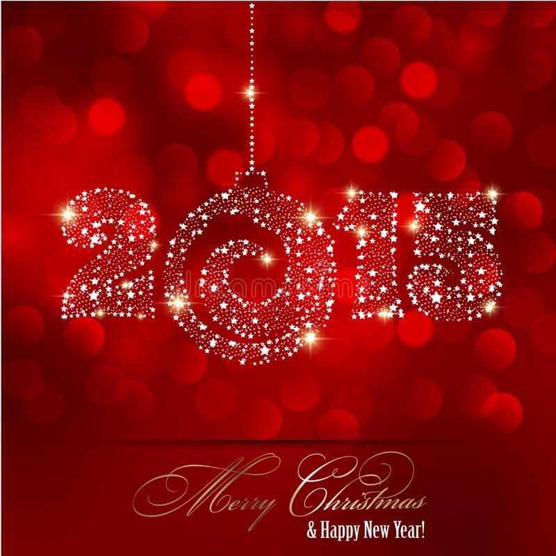 Fond de lumière rouge de Noël illustration stock