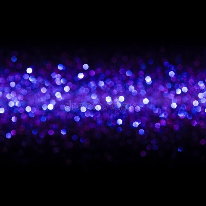 Fond de lumières, lumière sans couture abstraite Bokeh, lueur bleue de tache floue image stock