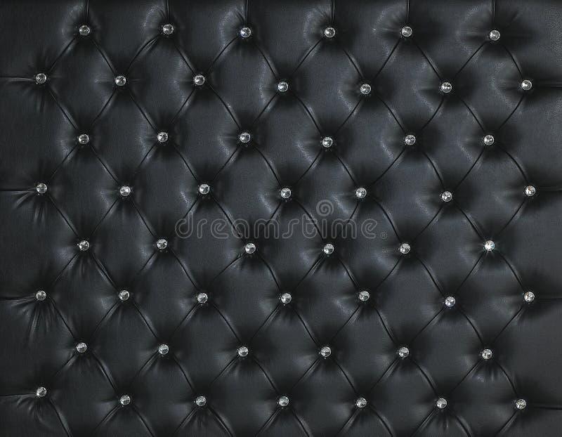 fond de luxe clout par diamant en cuir noir photo stock image du diamant goujon 30356428. Black Bedroom Furniture Sets. Home Design Ideas
