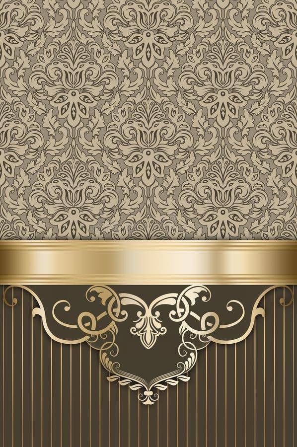 Fond de luxe décoratif avec des modèles de vintage illustration de vecteur