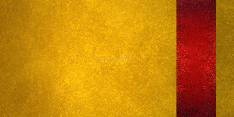 Fond de luxe d'or avec le panneau rouge de barre latérale ou rayure de ruban à la frontière image libre de droits