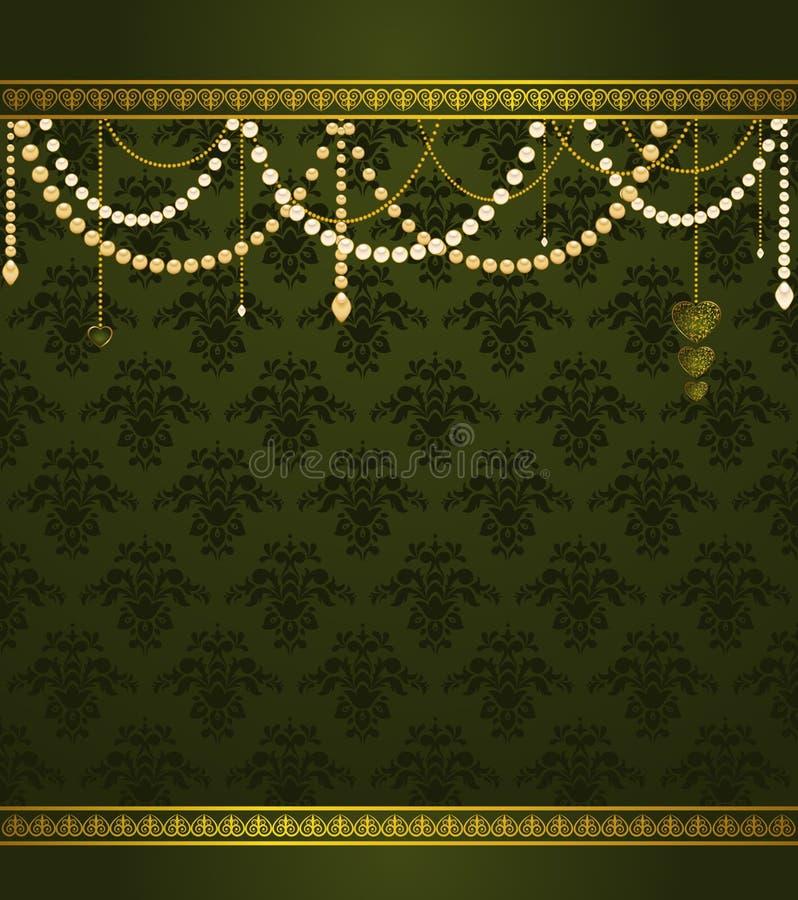 Fond de luxe de tapisserie de cru. illustration stock