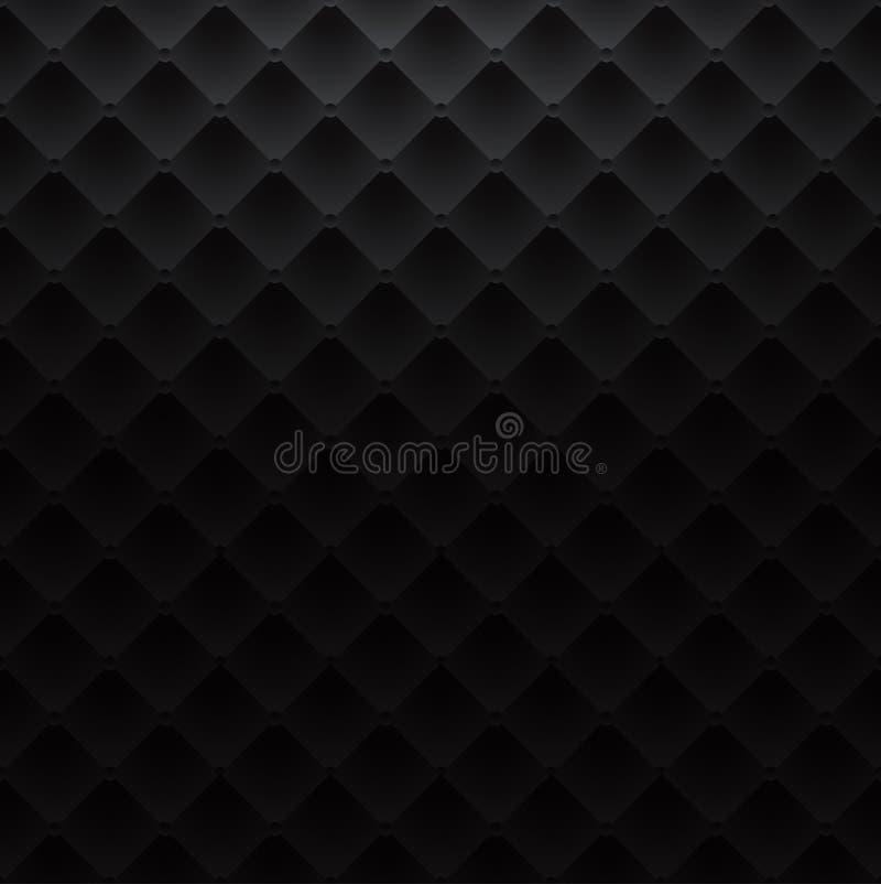 Fond de luxe de texture de sofa de modèle de place noire illustration libre de droits