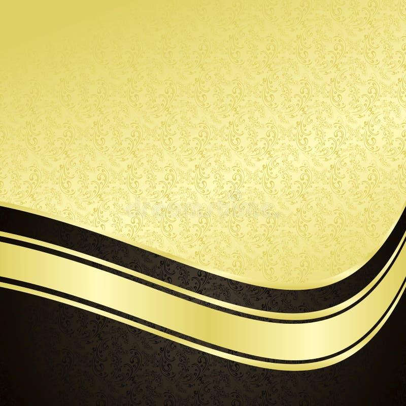 Fond de luxe : or et noir. illustration stock