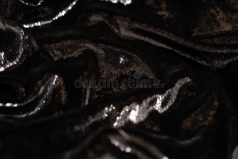 Fond de luxe de tissu noir de charme avec des étincelles image libre de droits