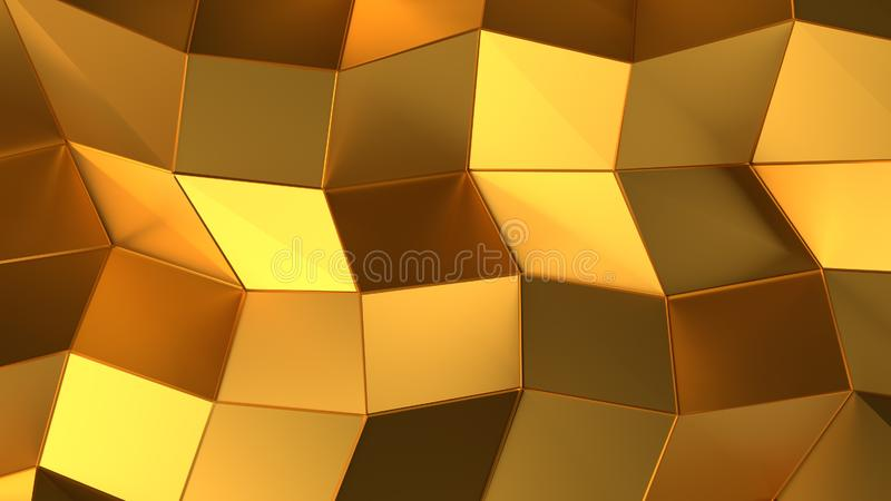 Fond de luxe de triangle d'abrégé sur or illustration de vecteur