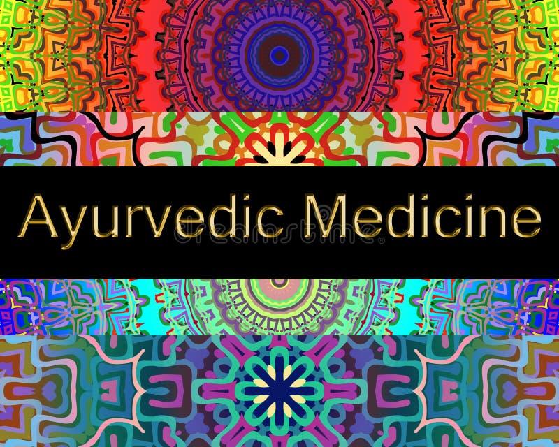 Fond de médecine d'Ayurvedic illustration libre de droits