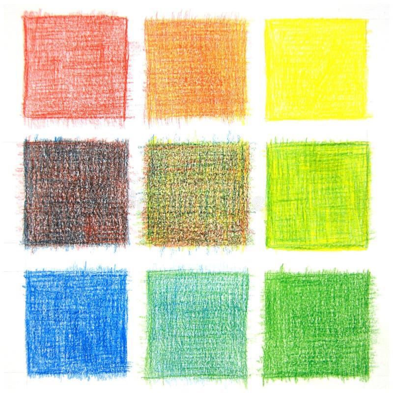 Fond de mélange de couleur, crayons photo stock
