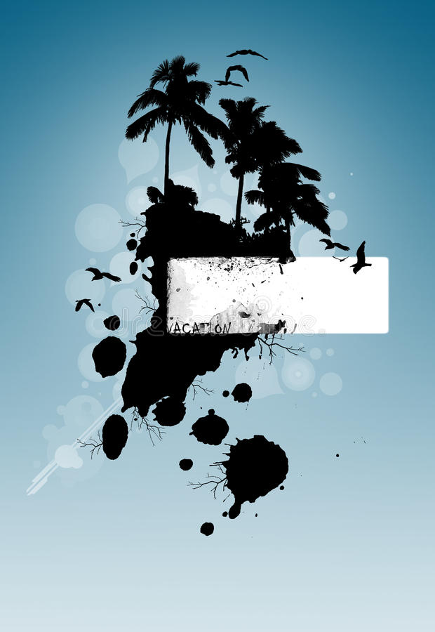 Fond de mémoires de vacances d'île illustration de vecteur
