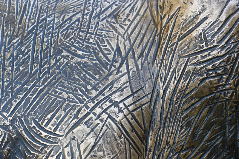 Fond de métal de cuivre coloré images libres de droits