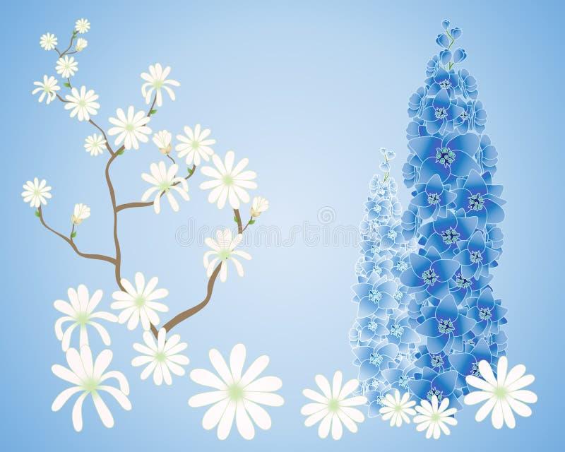 Download Fond de magnolia illustration stock. Illustration du floral - 45368332