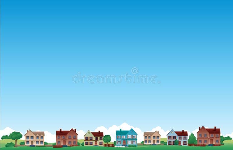 Fond de maison de banlieue
