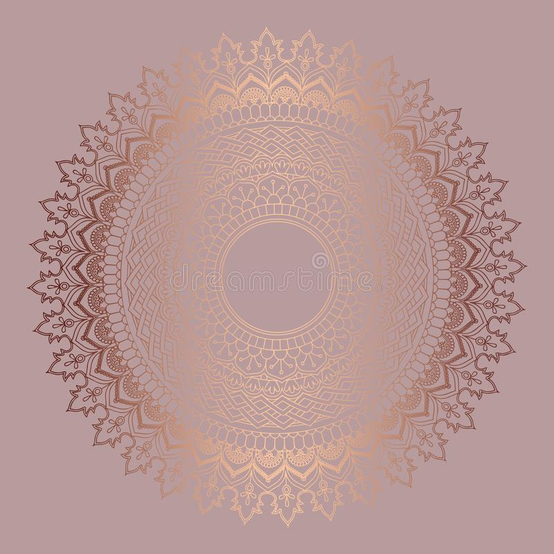 Fond de mandala d'or de Rose illustration libre de droits