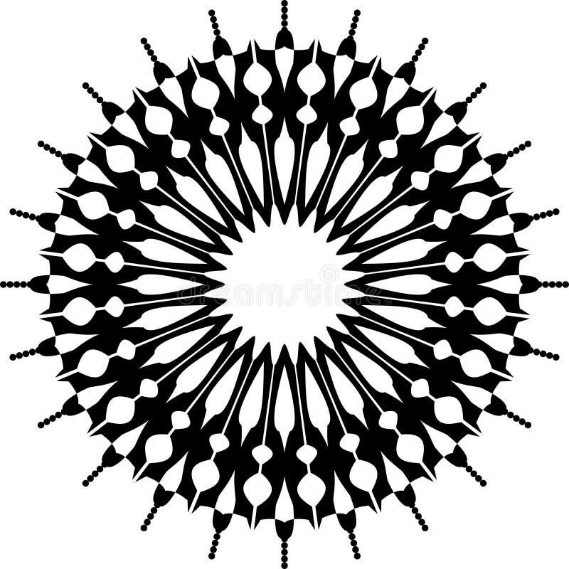 Fond de mandala et conception noirs et blancs de papier peint illustration de vecteur