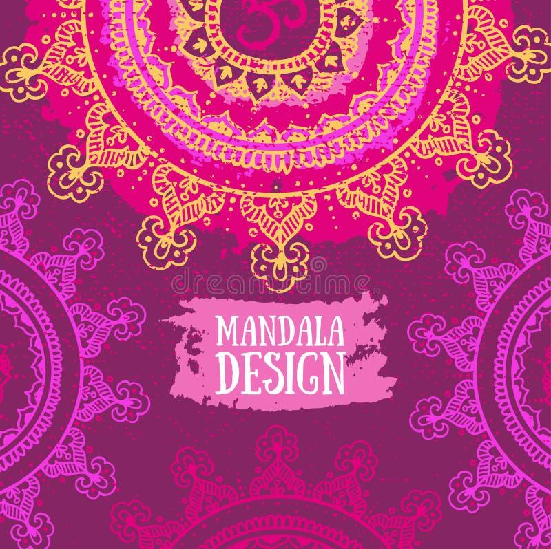 Fond de mandala Modèle rond d'ornement illustration libre de droits