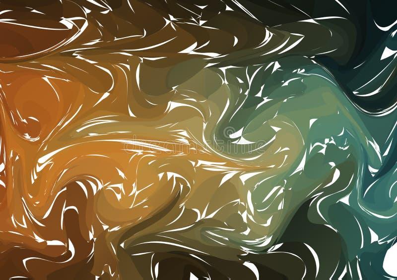 Fond de marbrure à la mode de vecteur Texture acrylique étonnante Fond fait main unique abstrait Illustration de vecteur illustration stock