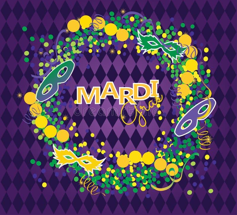 Fond de Mardi Gras illustration libre de droits