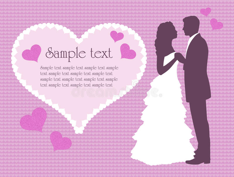 Fond de mariage illustration stock