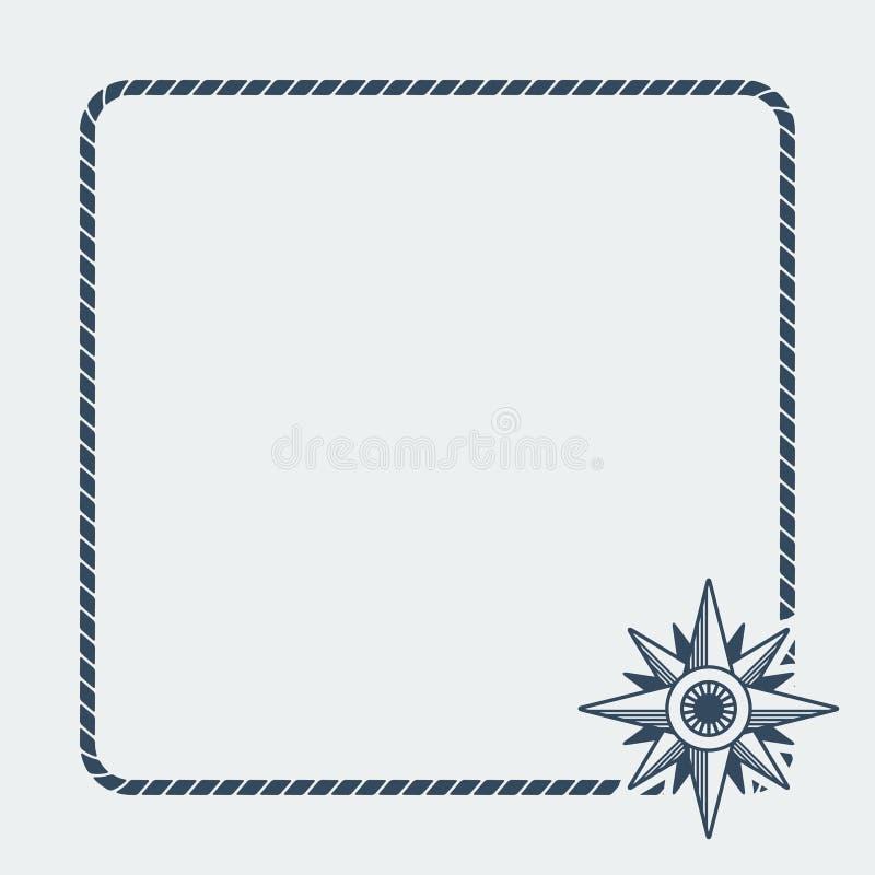 Fond de marine de rose de vent illustration libre de droits