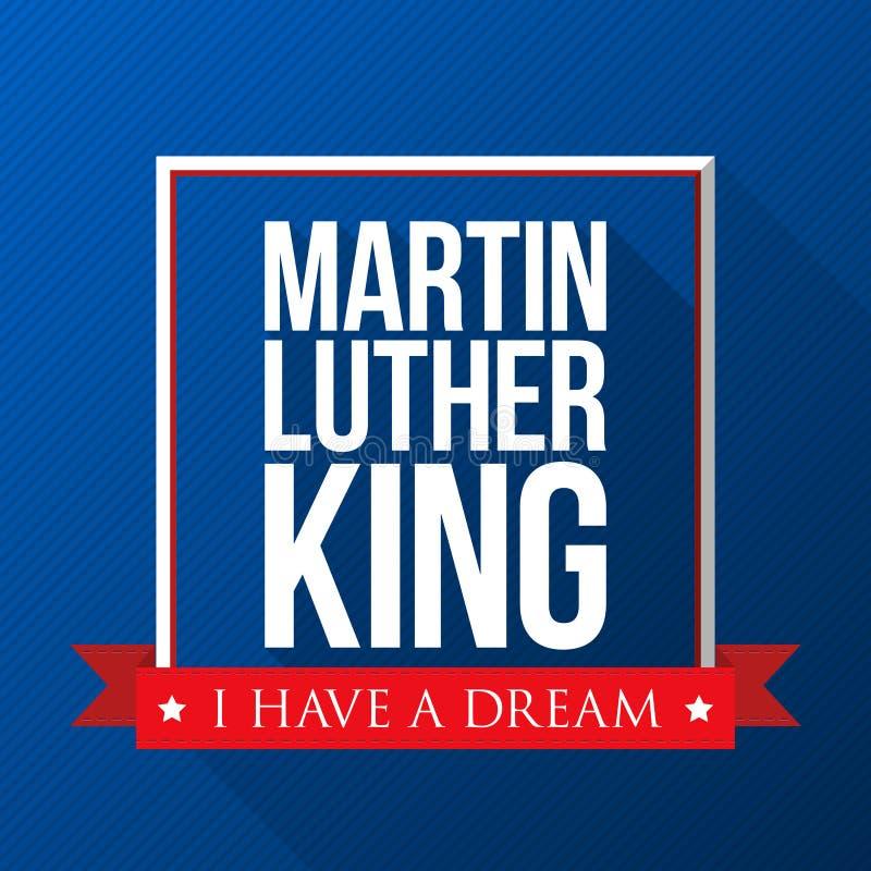 Fond de Martin Luther King Day Illustration patriotique de vecteur des Etats-Unis Calibre coloré pour des célébrations nationales illustration stock