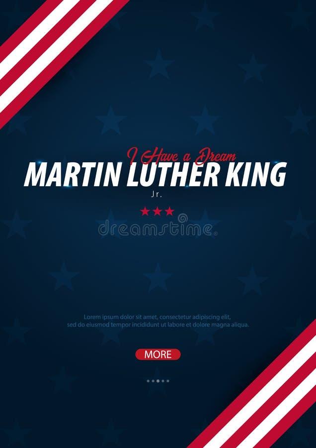 Fond de Martin Luther King Day J'ai un rêve Illustration de vecteur illustration de vecteur
