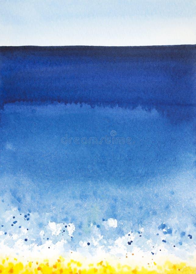 Fond de mer d'aquarelle photos libres de droits