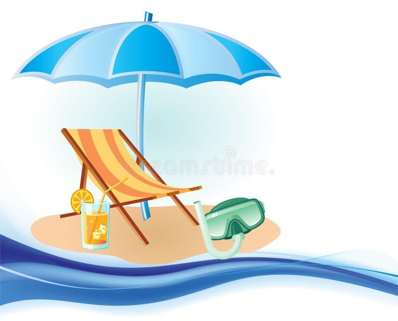 Fond de mer, de Sun et d'été illustration stock