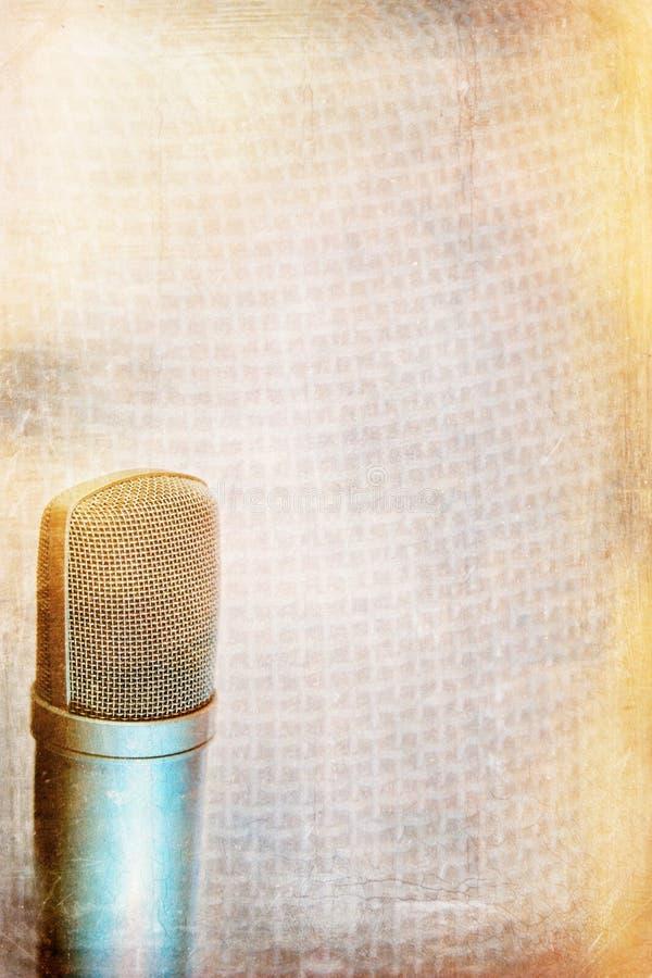 Fond de microphone de condensateur illustration stock