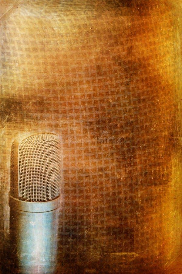 Fond de microphone de condensateur illustration libre de droits
