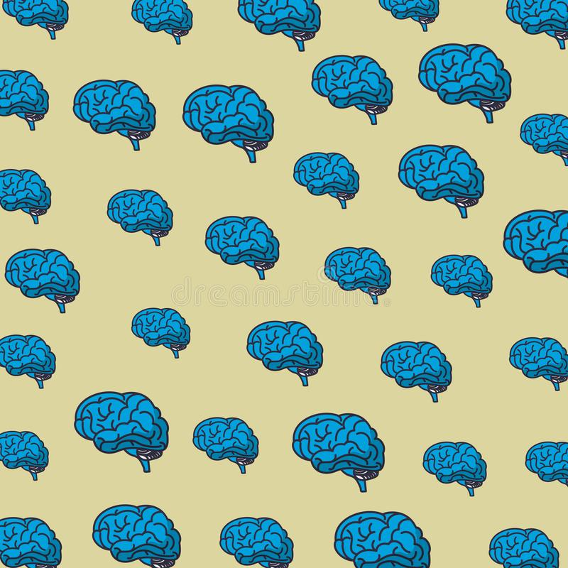 Fond de modèle de cerveaux illustration de vecteur