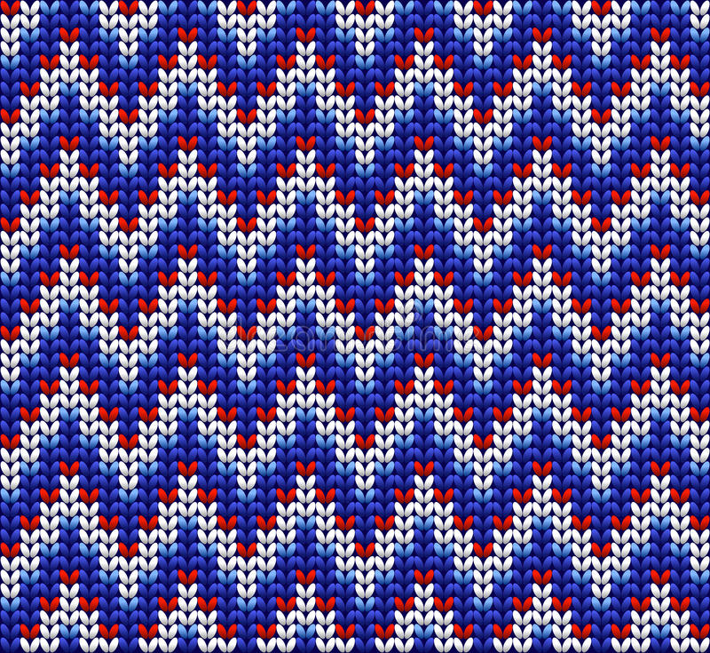 Fond de modèle de laine tricoté par couleur illustration libre de droits