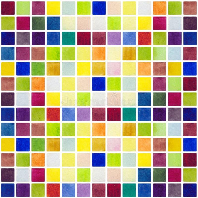 Fond de modèle de pixel d'aquarelle illustration stock