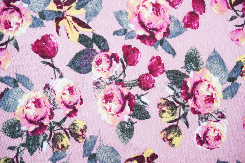 Fond de modèle de tissu de rose de rose image libre de droits