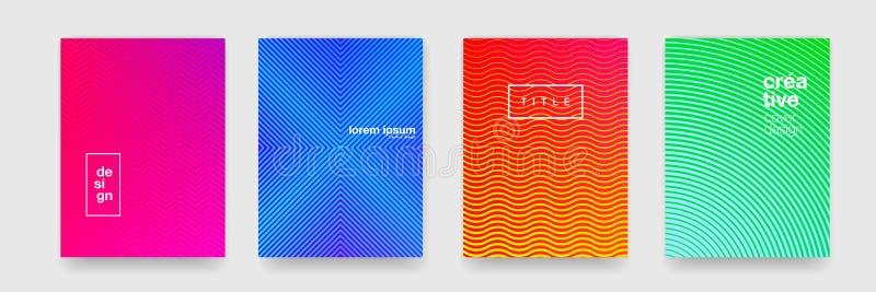 Fond de modèle, texture géométrique abstraite de vague, gradient de couleur Dirigez le modèle géométrique d'orange, bleu, rouge e illustration de vecteur