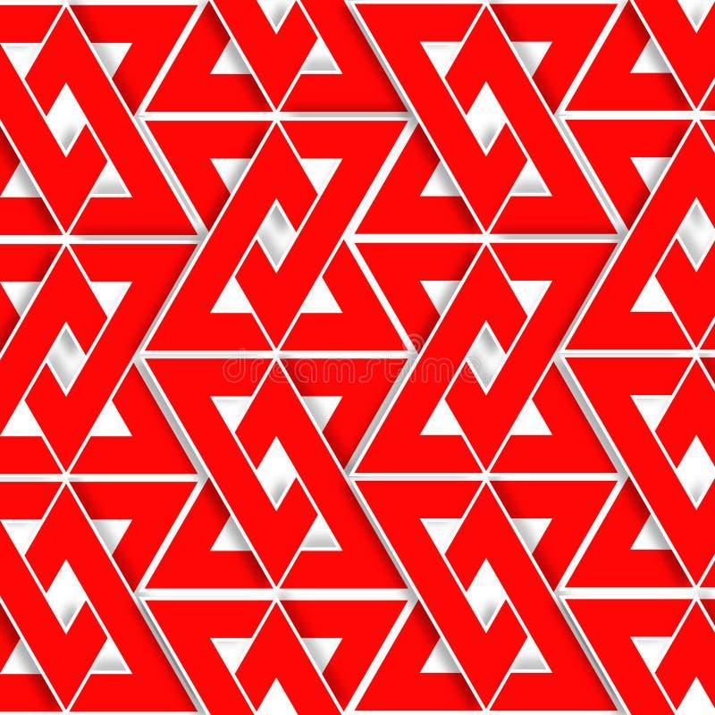 Fond de modèle de triangle rouge de place 2d, texture, illustration de vecteur