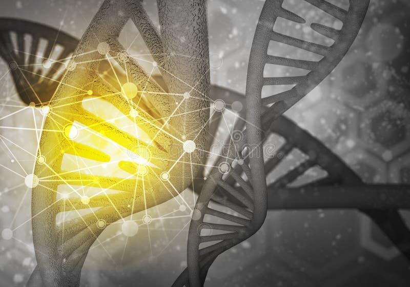 Fond de molécules d'ADN illustration de vecteur