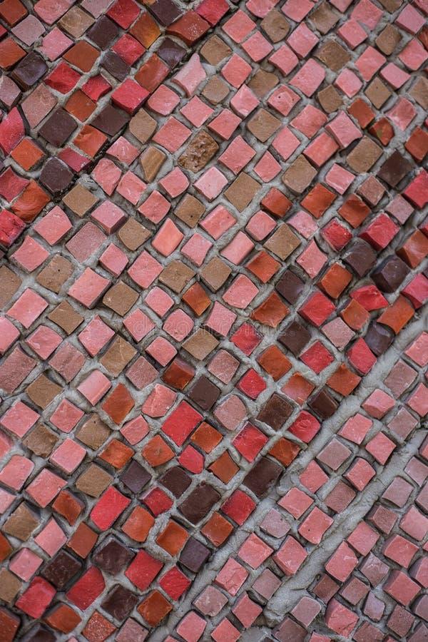 Fond de mosaïque colorée par rouge images libres de droits