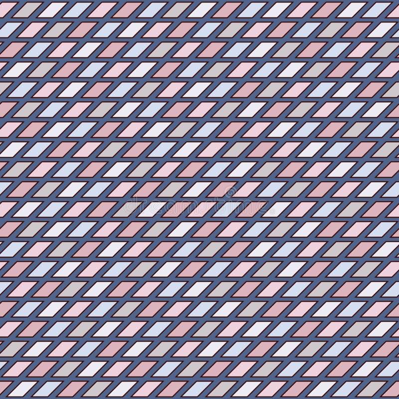 Fond de mosaïque en verre souillé de couleur de Pasrel Modèle sans couture avec l'ornement géométrique Texture extérieure à carre illustration de vecteur