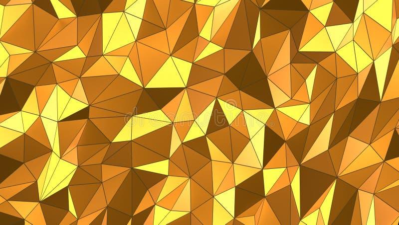 Fond de mosaïque de l'or 3d, rendu 3d illustration stock