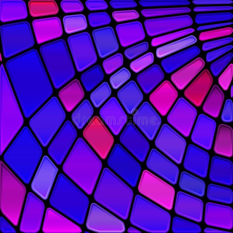 Fond de mosaïque de verre coloré de vecteur image stock