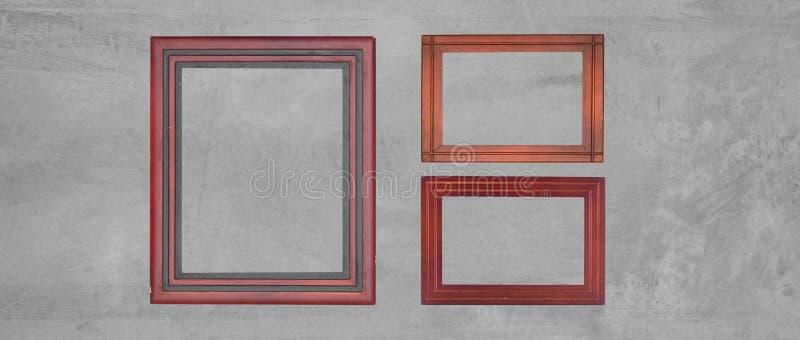 Download Fond De Mur En Béton Avec Le Cadre De Tableau En Bois Photo stock - Image du plâtre, abstrait: 76086500