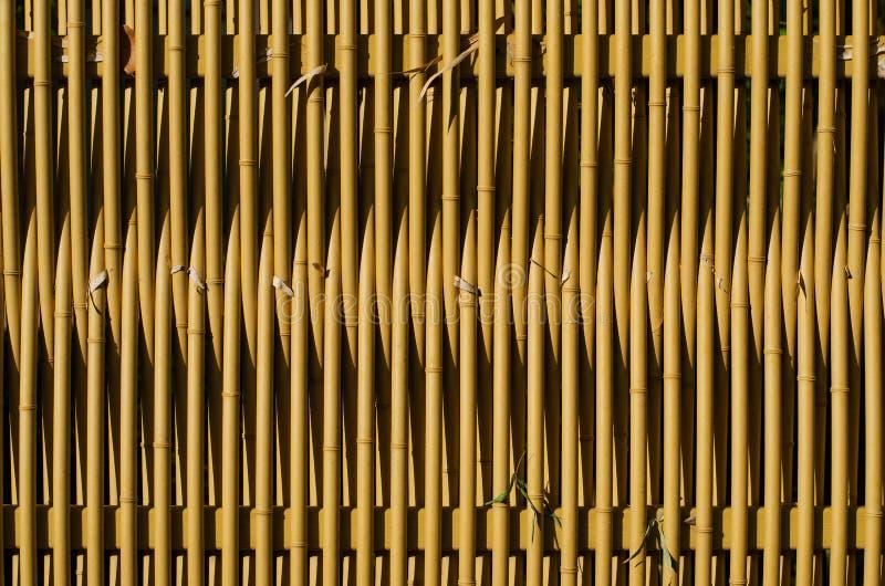 Fond de mur ou en bambou en bambou de barrière de texture, style japonais image libre de droits