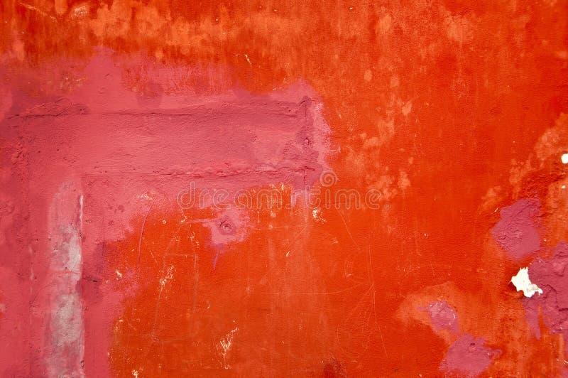 Fond de mur peint par rouge photo stock