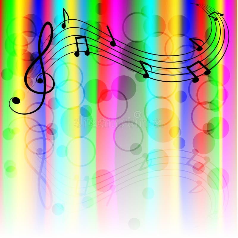 Fond de musique illustration de vecteur