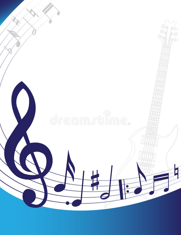 Fond de musique illustration libre de droits