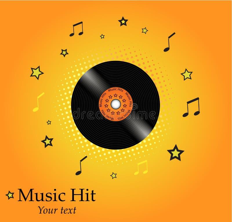 Download Fond De Musique Avec L'espace Pour Le Texte Illustration de Vecteur - Illustration du discothèque, orange: 8663926