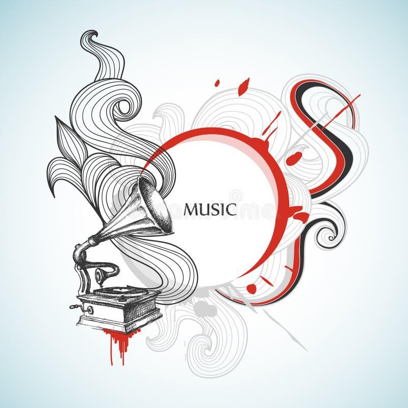 Fond de musique de cru illustration libre de droits