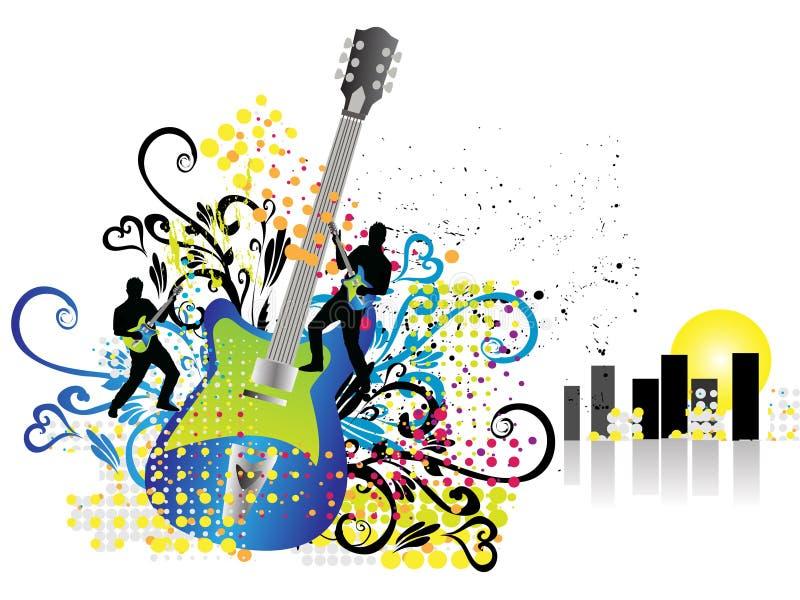 Fond de musique de cru illustration de vecteur