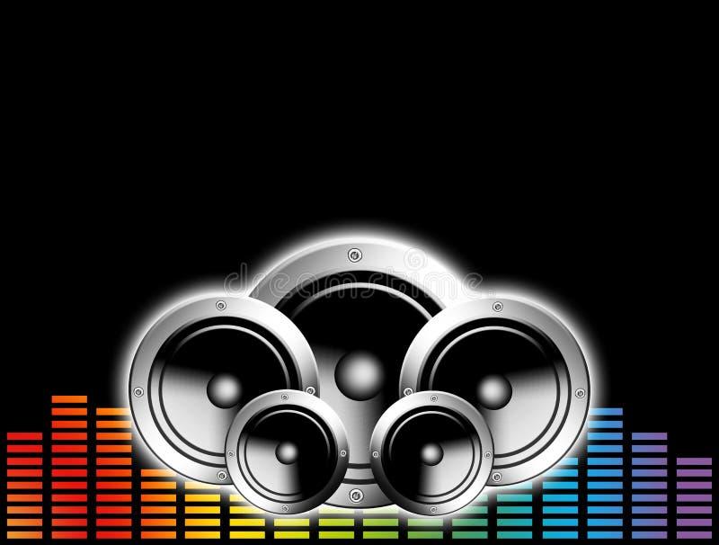 Fond de musique de Techno illustration stock