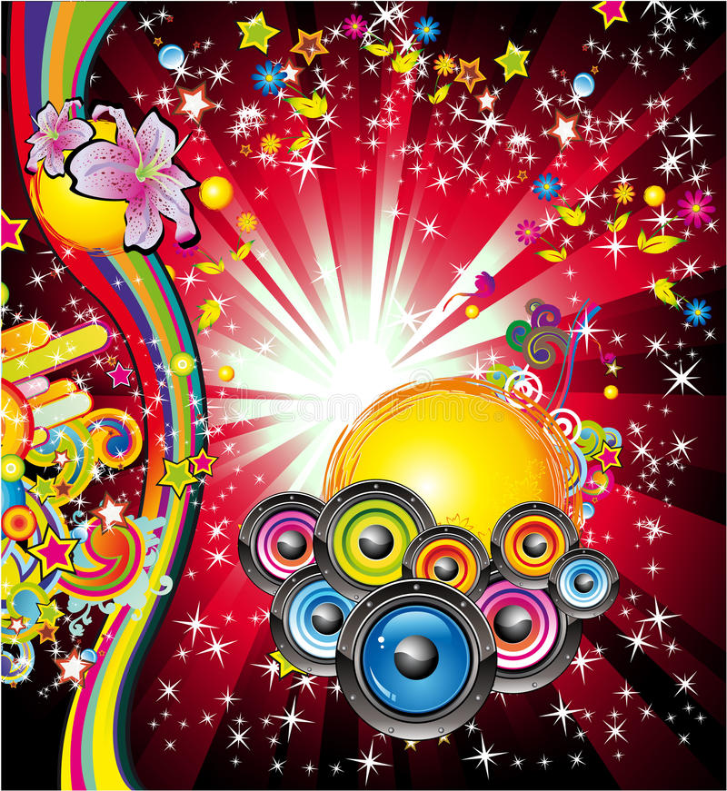 Fond de musique pour des aviateurs de disco illustration libre de droits
